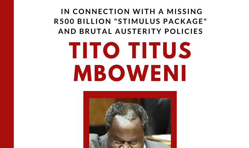 Sydafrikas finansminister Tito Mboweni