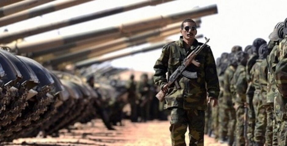 Polisario soldat
