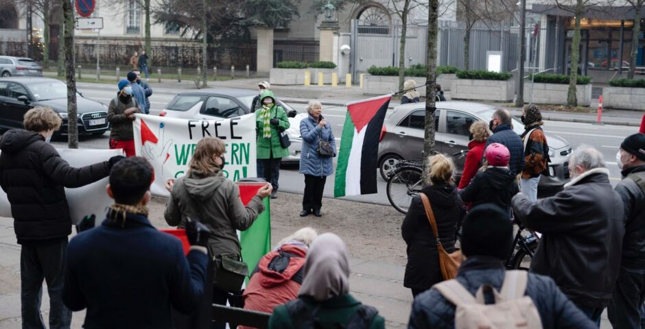 Demonstration for Western Sahara and Palestine
